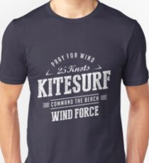 Kitesurf Command The Beach White Graphic Unisex T-Shirt