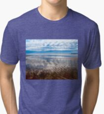 Cloud reflections at low tide Tri-blend T-Shirt