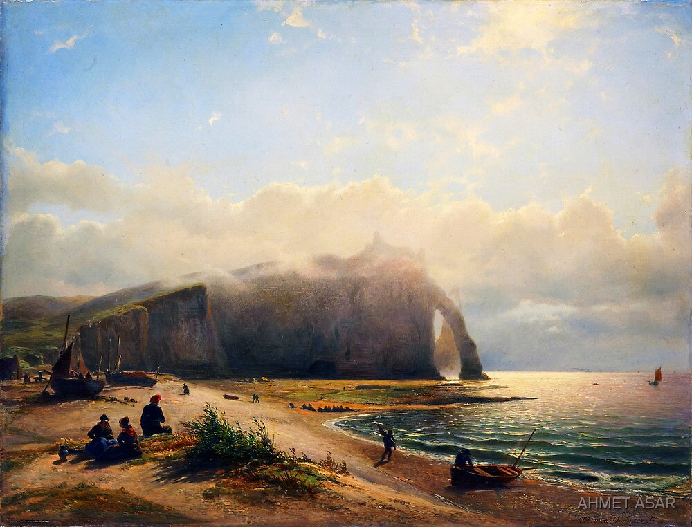 Coastal View Zeegezicht aan de kust (Willem Anthonie van Deventer 1880) by MotionAge Media