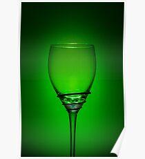 Empty Wine Glass - Green Poster