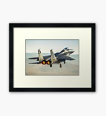 Israeli Air force (IAF) Fighter jet F-15 (BAZ)at takeoff  Framed Print