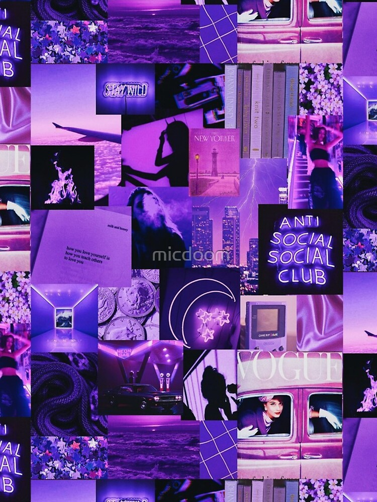 Purple Aesthetic Collage by micdoom