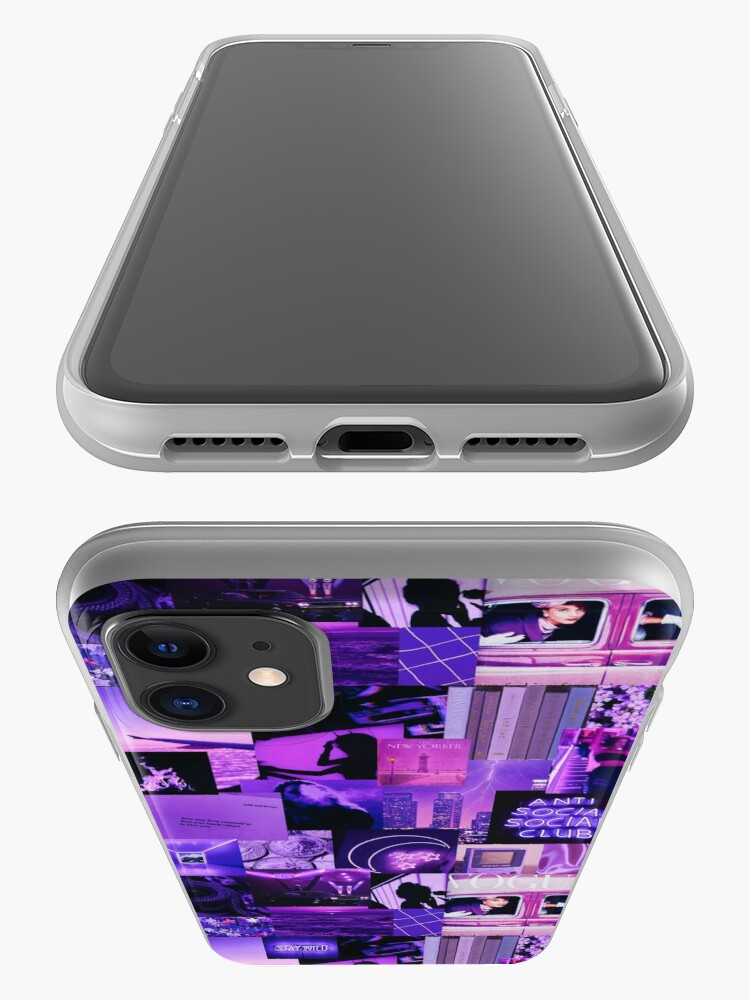 Alternate view of Purple Aesthetic Collage iPhone Case & Cover