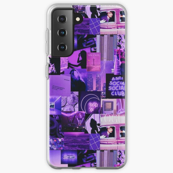 Purple Aesthetic Collage Samsung Galaxy Soft Case
