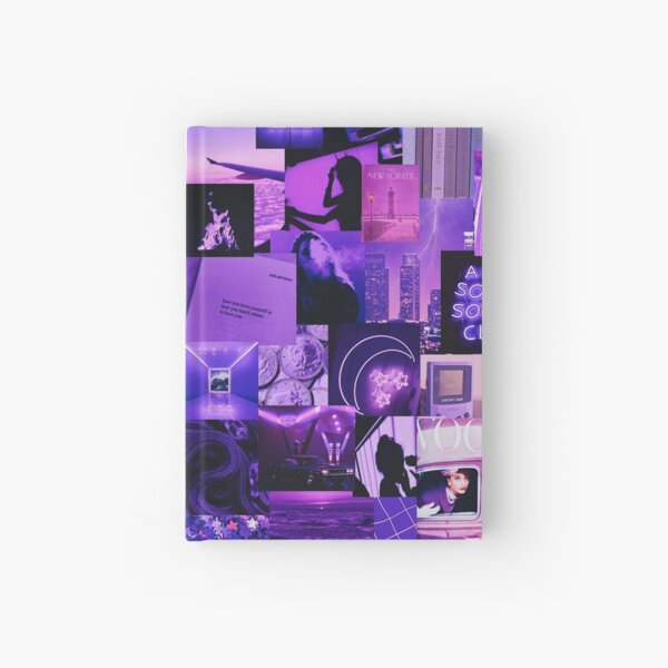 Purple Aesthetic Collage Hardcover Journal