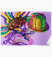 Celebrate New Year's or Mardi Gras Poster