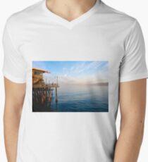Sunrise at Santa Monica Pier Men's V-Neck T-Shirt