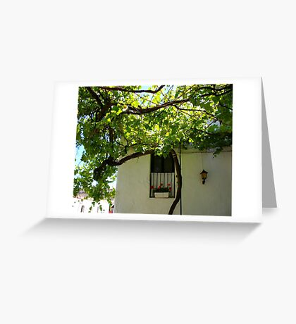 Under The Vines Greeting Card