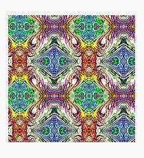Neon Pinstripes 1 C Photographic Print