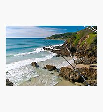 Secluded beach at Byron Bay Photographic Print