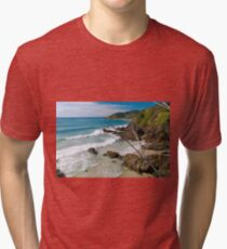 Secluded beach at Byron Bay Tri-blend T-Shirt