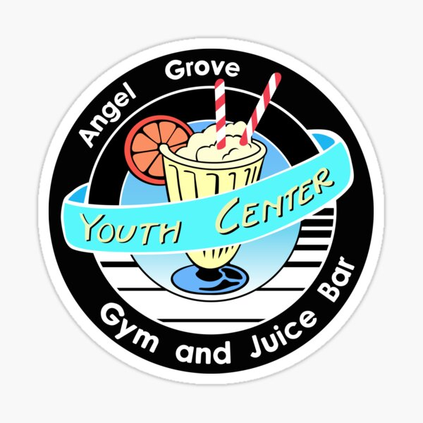 Mighty Morphin Power rangers youth center logo Sticker
