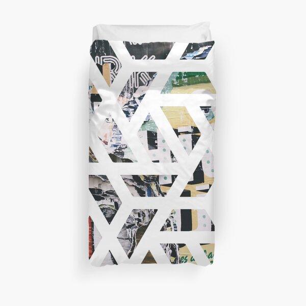 Geometric Street Art Poster Design Duvet Cover