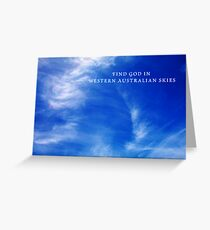 Western Australian Skies Greeting Card
