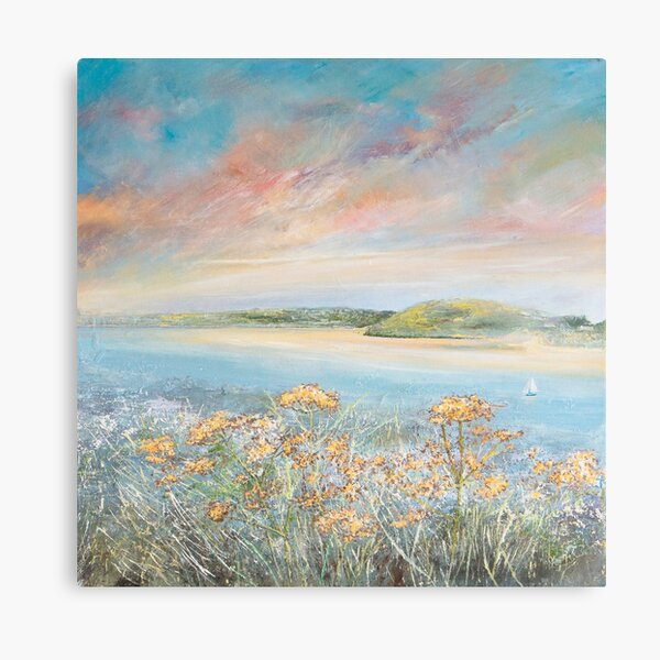 Daymer Bay Camel Estuary, Cornwall Art Canvas Print