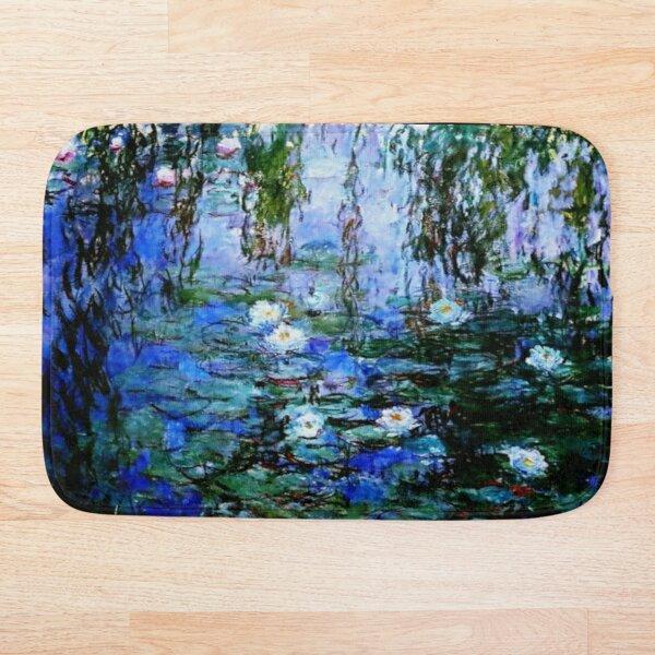Claude Monet's Blue and White Water Lilies - Les Nymphéas Bleus et Blancs  Bath Mat