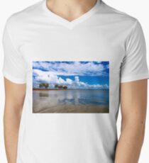 Jetty at St Helena Island Men's V-Neck T-Shirt