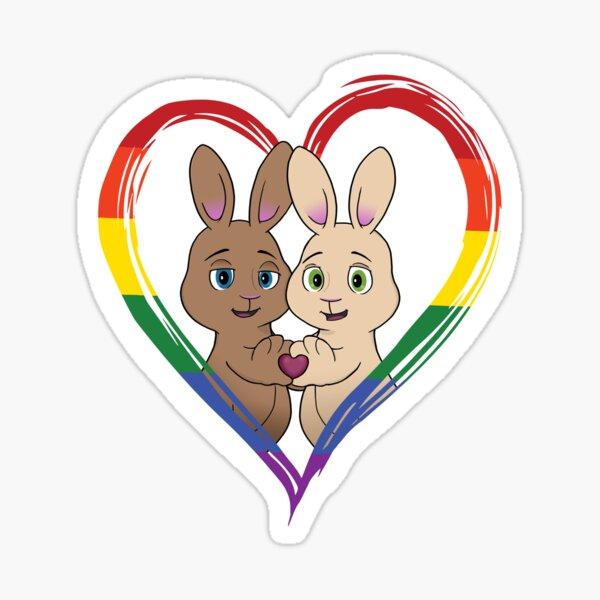 Skip and Pip Pride 2020 (bunny version) Sticker