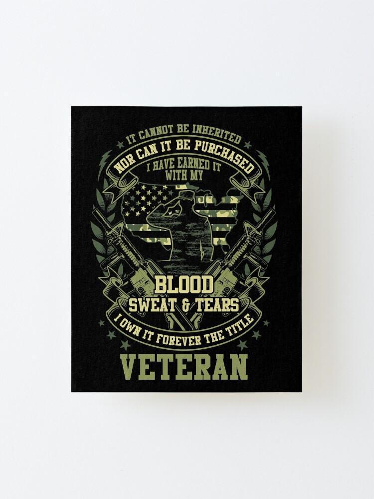 Proud Us Veteran Shirt Veteran Dad Shirt Veteran Grandpa Shirt Father S Day Gift Soldier Shirt Memorial Day Shirt Veterans Day Gift Ideas Mounted Print By Mydagreat Redbubble
