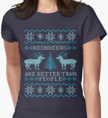 Reindeers Are Better Than People (Special Edition) Women's Fitted T-Shirt