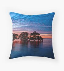 Mangroves at Nudgee Beach Throw Pillow