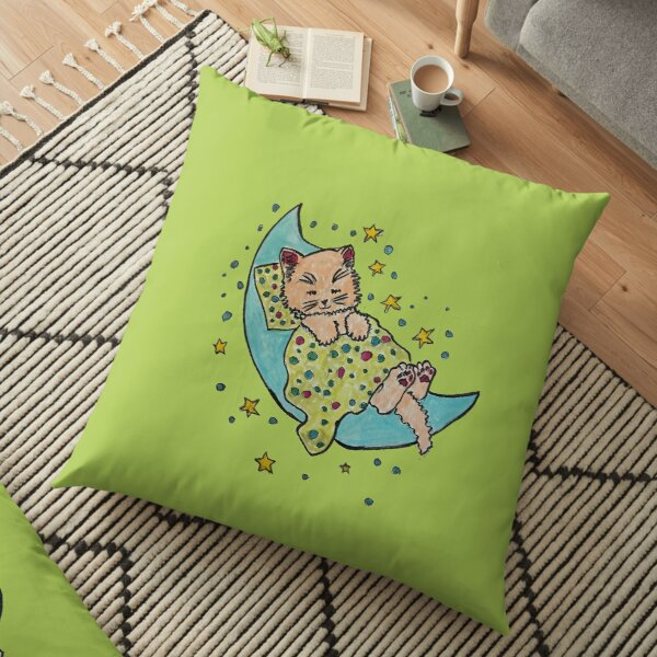Sleeping on the Moon Floor Pillow