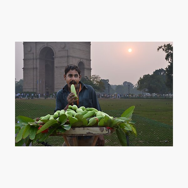 Fruit Seller Photographic Print