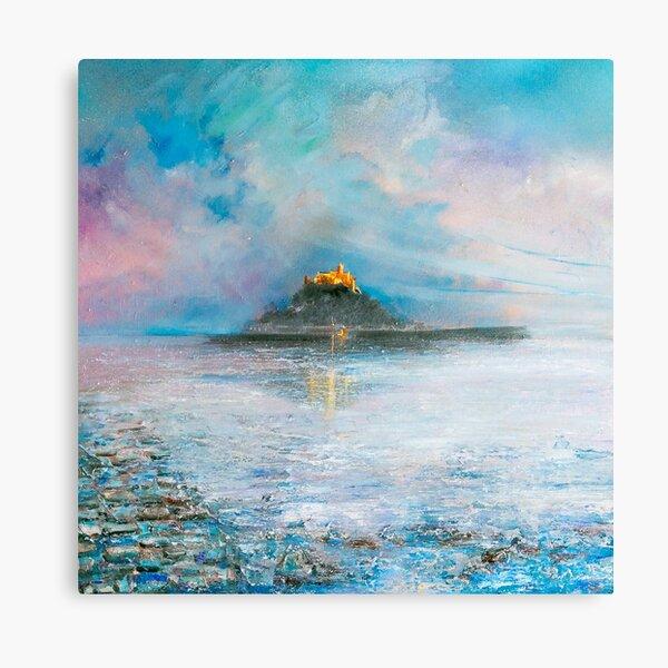 Twilight at St Michael's Mount, Cornwall Art Canvas Print
