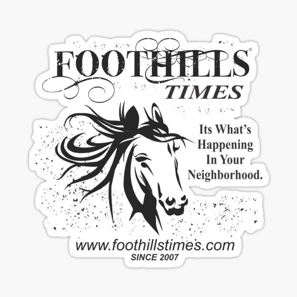 Foothills Times Horse Tee Sticker