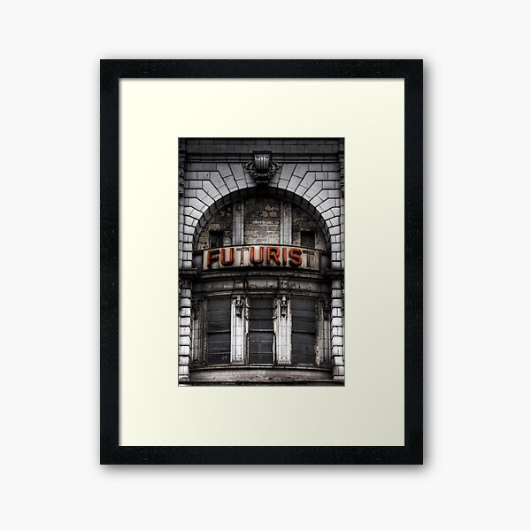 The Future is Now, Forget the Past, Liverpool Framed Art Print