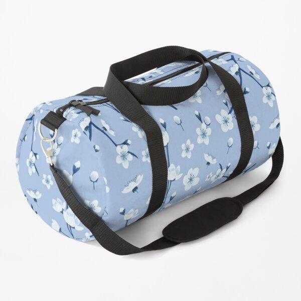 Blue cherry blossom Duffle Bag