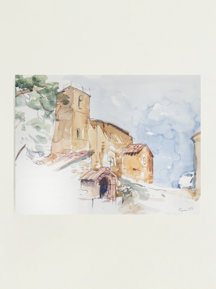 Alternate view of A Country Church Photographic Print