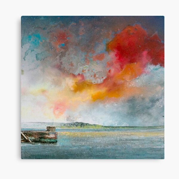 Rock from Padstow, Cornwall Art Canvas Print