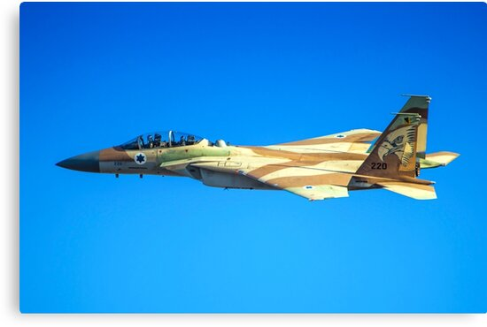 Israeli Air force (IAF) Fighter jet F-15I (Raam) in flight by PhotoStock-Isra