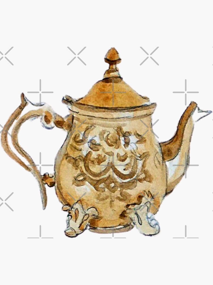 Antique Brass Teapot  by WitchofWhimsy