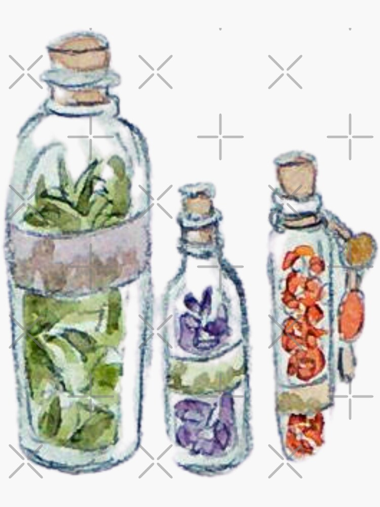 Witchy Vials of Herbs: Lavender, Sage, and Red Pepper by WitchofWhimsy