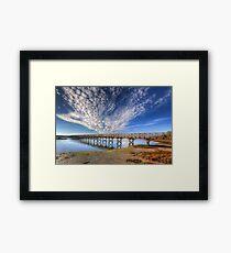 Quinta do Lago The Wooden Bridge Framed Print