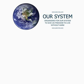 OUR SYSTEM t-shirt by benwallace13