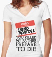 Inigo's Name Tag Women's Fitted V-Neck T-Shirt