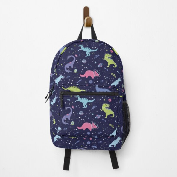 Space Dinosaurs in a Purple Sky Backpack
