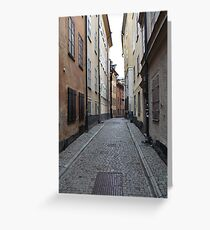 cityscape street in old town Greeting Card