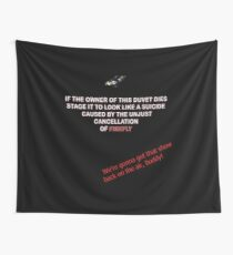 Firefly&Community: we'll bring the show back! - black version Wall Tapestry