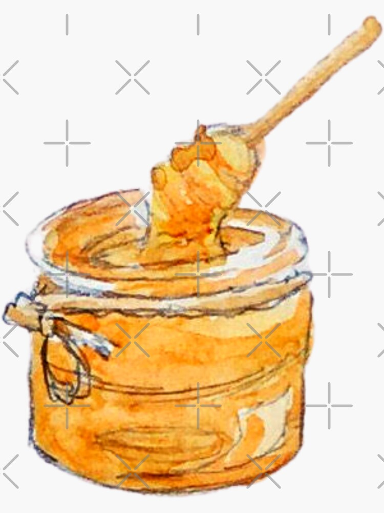 Honey Jar and Wooden Honey Dipper by WitchofWhimsy