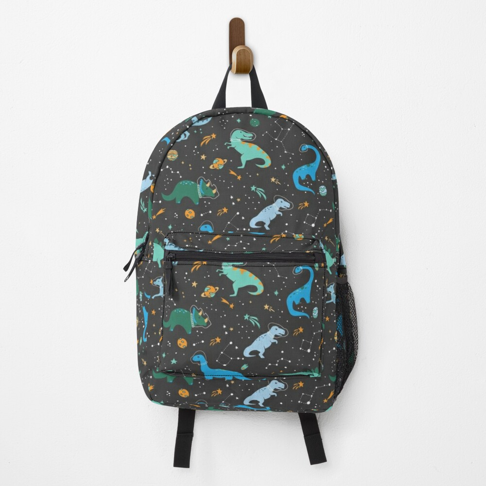Space Dinosaurs in Blue Backpack