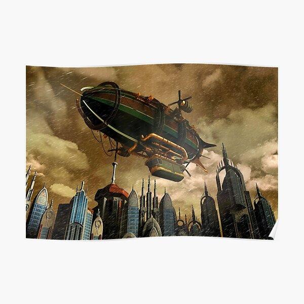 Steampunk Airship 3 Poster