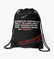 Firefly&Community: we'll bring the show back! - tote bag Drawstring Bag