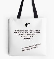Firefly&Community: we'll bring the show back! - tote bag white Tote Bag