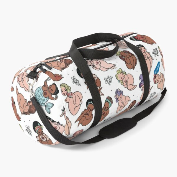 Sexyfation Pattern - White Duffle Bag