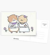 Hamster Wedding Postcards
