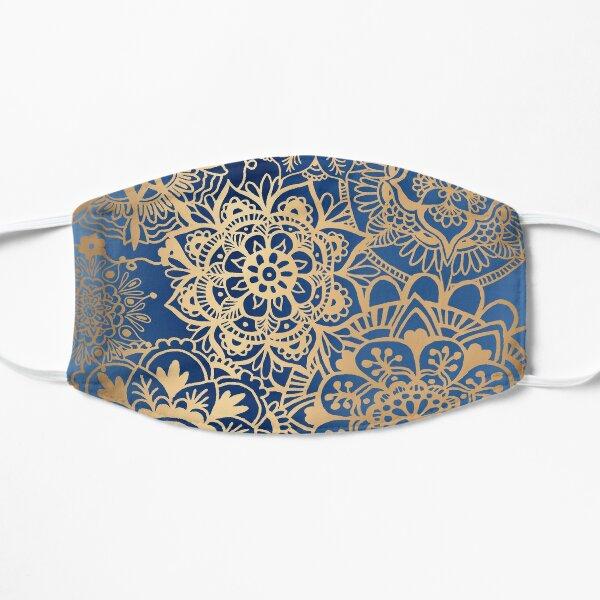 Blue and Gold Mandala Pattern Mask